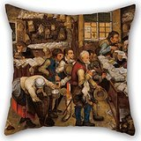 (Artistdecor Oil Painting Pieter BRUEGHEL Ii - The Tax-collector's Office Throw Cushion Covers ,best For Bar Seat,valentine,floor,chair,car Seat,floor 16 X 16 Inches / 40 By 40 Cm(double Sides))