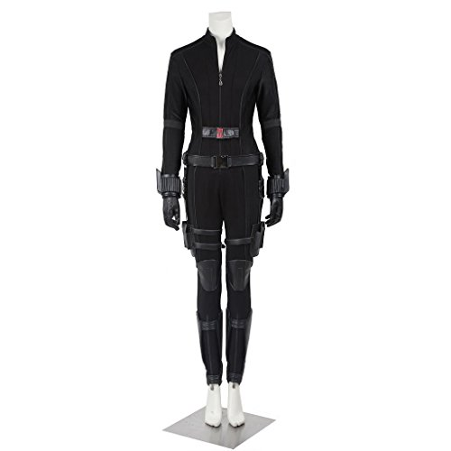 CosplayDiy Women's Suit for Captain America 3 Black Widow Cosplay CM (Black Widow From Avengers Costume)