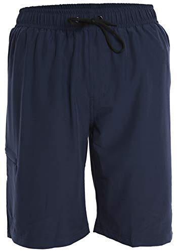 Men's Boardshorts - L - Navy - Perfect Swimsuit, Swim Trunks, Board Shorts, Workout or Athletic Shorts for The Beach, Lifting, Running, Surfing, Pool, Gym. for Adults, Men's Boys