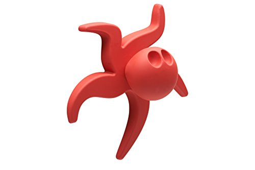 Meister 198417Furniture Knob Plastic, Möbelknopf Kunststoff Rot Krake