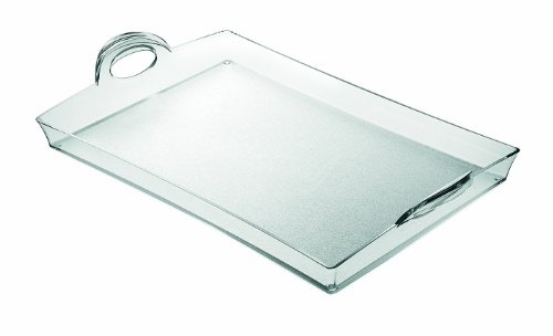 Guzzini Transparent Happy Hour Tray, 13 by 21-Inches