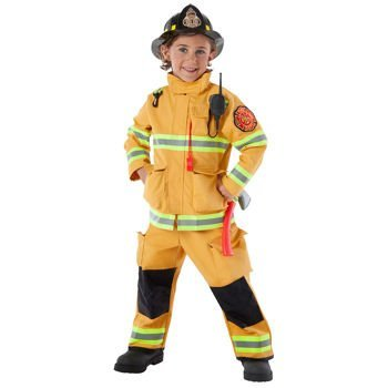 Amazing Fireman/Firefighter Kids Halloween Costume by Teetot Co. Child Size 3-4
