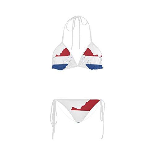 ADEDIY Flag Map Of South Africa (Netherlands) Summer Beach Bikini Swimsuit 5XL