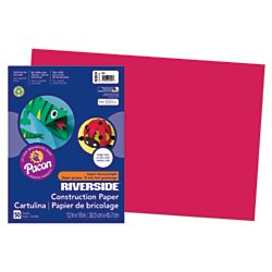 Pacon Groundwood Construction Paper, 12in. x 18in., Red
