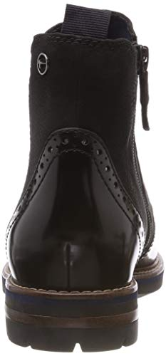 8 black 21 Femme Tamaris Bottes Chelsea 25437 Nubuc Noir xFz8FqHAWw