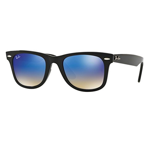 Ray-Ban Plastic Unisex Non-Polarized Iridium Square Sunglasses, Black, 52 - Wayfare Raybans
