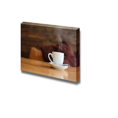 Closeup of White Ceramic Coffee Cup Wall Decor