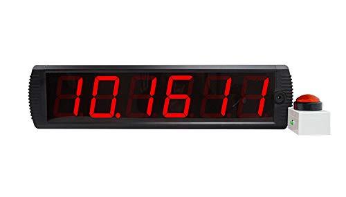 Huanyu LEDタイマー 4インチ6桁 ゲーム 10秒挑戦タイマー ゲームセンター 遊園地 レストラン用 (4インチ6桁) B07HL8SGRS