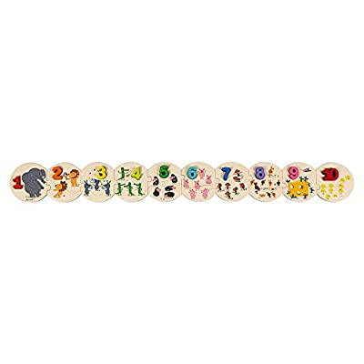 Janod J02706 I Learn to Count Puzzle, Multicolored: Toys & Games