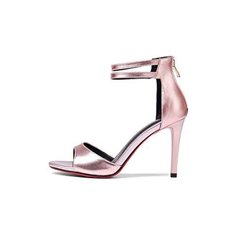 Tiras Zapatos Aguja de Tacones amp;S de Dreamgirl Mujer Pink Sandalias MEI w8TzHqRxR
