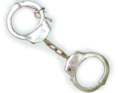 Hiatts- Double Locking Nickel Plated Handcuffs