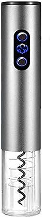 ROYWY Sacacorchos Eléctrico, Sacacorchos, Sacacorchos Recargable Con Accesorios, Sacacorchos Para Vino, Sacacorchos Portátil, (gris) Sorpresa ROYWY/Silver