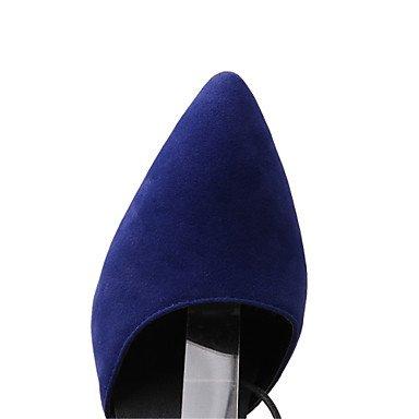 LvYuan Mujer-Tacón Stiletto-Innovador Zapatos del club-Zuecos y pantuflas-Oficina y Trabajo Vestido Fiesta y Noche-Vellón-Negro Azul Rojo Red