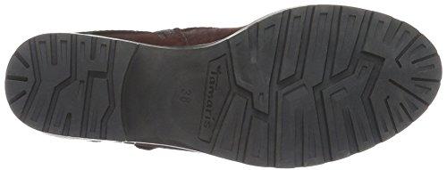 Boots UK Black Women's Black Comb 25311 Comb Tamaris 550 Ankle Red Bordeaux 8 098 4TqwzS