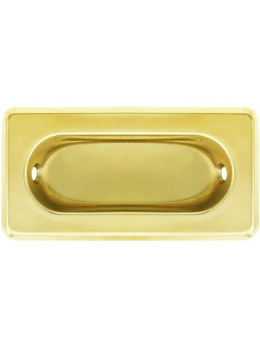 Beveled Edge Recessed Sash Lift in Polished Brass (Sash Lift Brass)