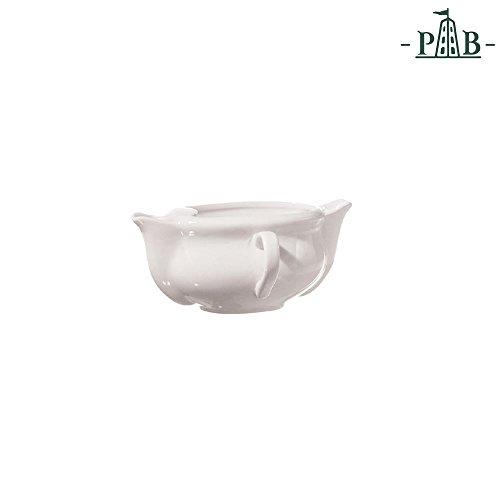 (La Porcellana Bianca Italian White Porcelain Split Gravy Boat Jug Fat Separator)