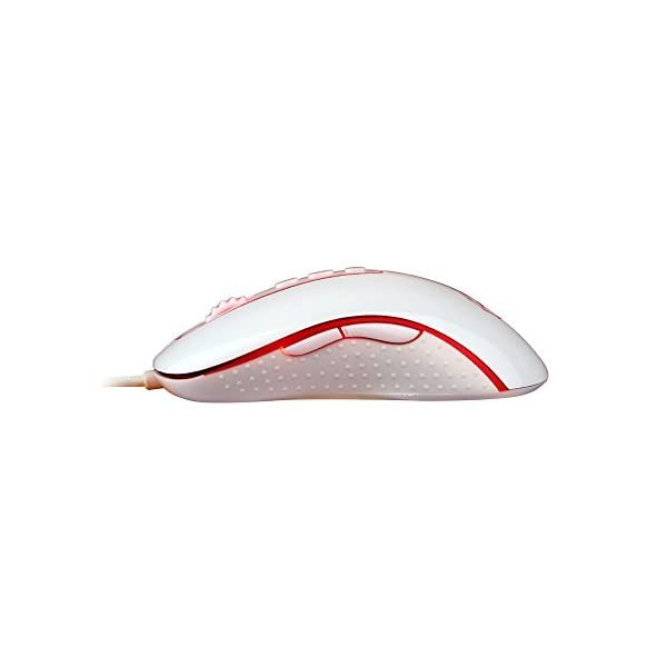 Redragon M702 Gaming Mouse, Wired, LED Backlit, Phoenix, 4000 DPI, Weight Tuning Set with 9 Programmable Buttons & 5…