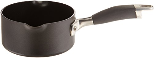 Anolon Advanced Hard Anodized Nonstick 1-Quart Open Saucepan with Pouring Spouts