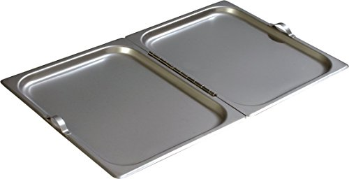 Carlisle 607000H DuraPan Stainless Steel 18-8 Hinged Flat Full-Size Pan Cover with Handles, 20-3/4 x 12-3/4 inch (Case of 6)
