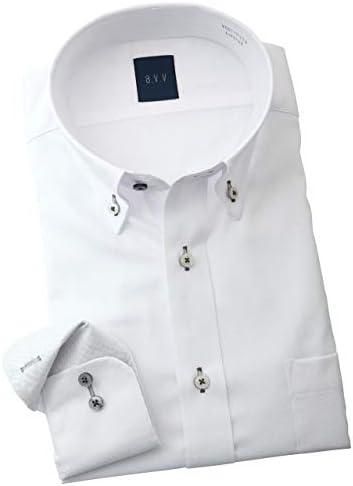 ワイシャツ a.v.v HOMME メンズ 長袖ドレスシャツ 形態安定 ノーアイロン