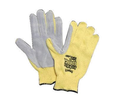 Honeywell Ladies Yellow Junk Yard Dog Standard Weight Cut Resistant Gloves With , Kevlar® Lined And PVC Coating