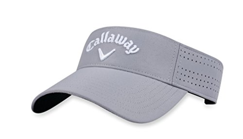 Callaway Golf 2018 Womens Opti Vent Adjustable Visor, Silver/ White