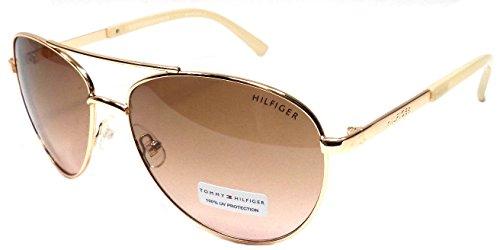 Tommy Hilfiger LINDSAY WM 0L275 Womens Rose Gold/Pink Aviator - Hilfiger Aviators Tommy