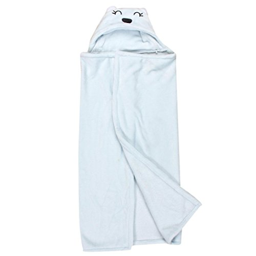 [Lovely Soft Baby Blanket Towels Animal Shape Hooded Bath Towel Bathrobe Clothes (0~2 years, Blue)] (Robin Kids Costumes Kit)
