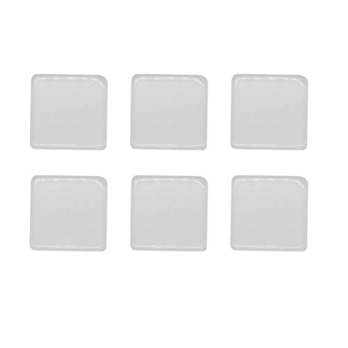 Julie Wang Flat Back Crystal Clear Magnifying Glass Dome Cover Cabochons Round Square Rectangle (Square 25x25)