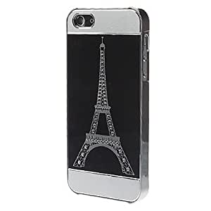 AES - Tri-section Eiffel Tower Brushed Plating Hard Case for iPhone 5/5S , Blue