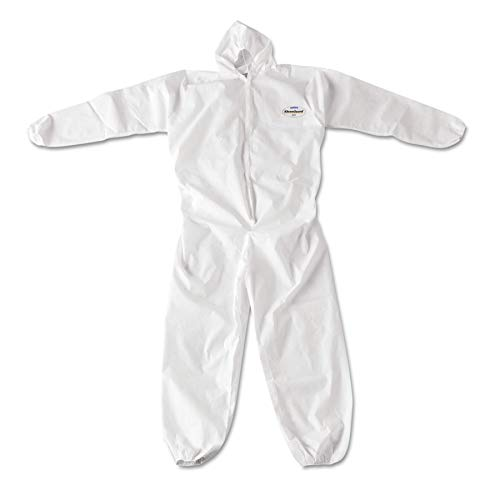 KleenGuard 49116 A20 Breathable Particle Protection Coveralls, Zip Closure, 3X-Large, White (Case of -