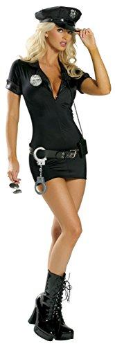 Rave Wonderland Women's 7PC Stop Traffic Cop Costume (Black , Small/Medium) (Stop Traffic Cop Sexy Costume)
