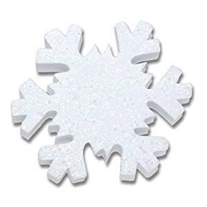 Tenna Tops - White Snowflake Sparkles Antenna Topper / Antenna Ball / Mirror - White Ball Antenna