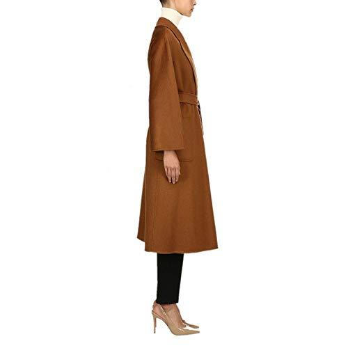 Yongbe Las Formal Color Lana Con Largo Parka Señoras Negocio Delgado Trench Sobretodo Lujoso De Mujeres Coat A Invierno Tipo Suelto Abrigos Cinturón Caramelo Solapa p6xrpq