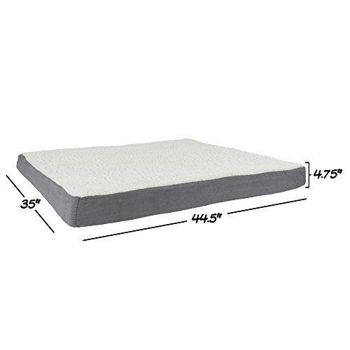 PETMAKER Orthopedic Sherpa Top Pet Bed with Memory Foam and Removeable Cover 44x35x4.75 Gray by PETMAKER (Image #2)
