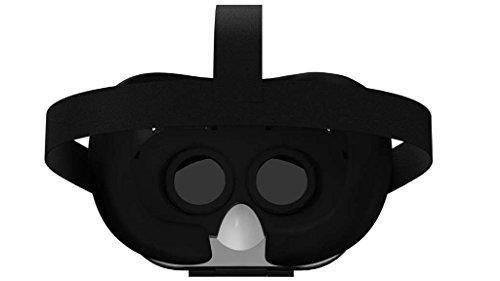 AS SEEN ON TV! Dynamic Virtual Viewer (DVV) 3D Glasses | Smartphone Video Virtual Reality VR Headset Player -- (Black/White) IOS and Android - Virtual On
