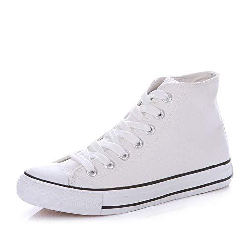 Zapatos black de Zapatos and Mujeres de Primavera Salvaje Hasag Estudiante de Mujeres Planos White de Amantes Altos Lona gnxUFdAq