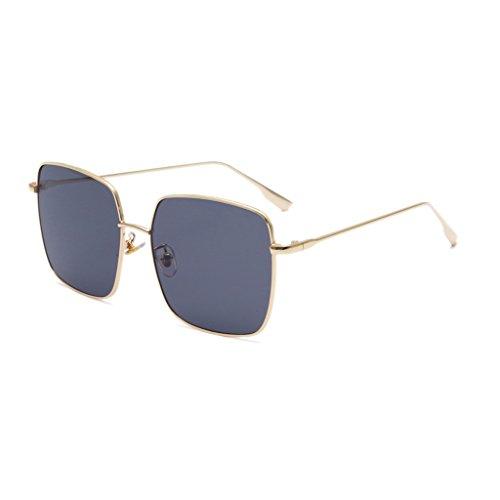 Gold Frame Sol Framed Color 30g Black Gafas Unisex Gold Decoración UV400 Gafas Gafas Metal Anti de Weight Large Moda Style Star black framed qRXnp