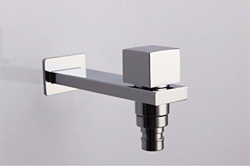 Makej Square Garden Faucet Washing Machine Grifo De Agua De Lató n Pulido Chromeplate Acabado Exterior Grifo 1/2