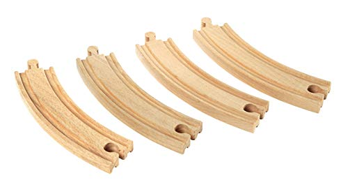 - BRIO World - 33342 Large Curved Tracks | 4 Piece Toy Train Accessory for Kids Ages 3 and Up