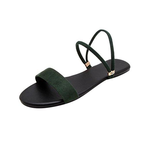 Tempo Verde Heheja Basse Sandali Scarpe Estive Peep Libero Donna da Piatto Toe Sandali Spiaggia papBzWR