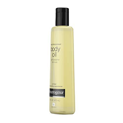 Neutrogena Lightweight Body Oil for Dry Skin, Sheer Body Moisturizer in Light Sesame Formula, 16 fl. oz 4