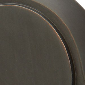 Emtek Wall Bumper 2255 4 rosette options and 15 finish options (Square Rosette, Oil Rubbed Bronze US10B) ()