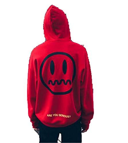 Dropshipping Suppliers Men Hip Hop Hoodies Streetwear Hoodie Sweatshirts red XL