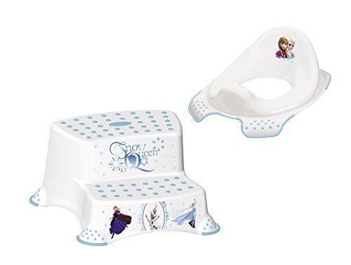 Disney, Reine des neiges - Siège réducteur pour WC et tabouret deux marches (ensemble 2 pièces) OKT Kids