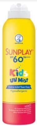SUNPLAY Kids UV Mist SPF60 200ml- Child-Proof Lock Cap- Extra Mild, Hypoallergenic and Tear-Free Formula