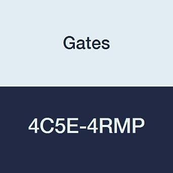 Gates 4C5E-4RMP Field Attachable for C5E Hose 3//16 ID 3//16 ID Steel Male Pipe NPTF 30 Cone Seat