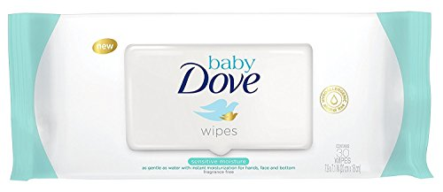 Dove Baby Wipes Sensitive Moisture 30 Count (6 Pack)