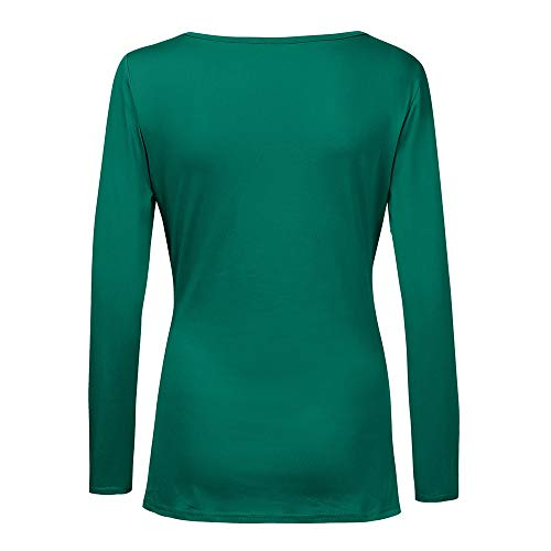 Chemise Col Green Rond Body Chemisier Uni KaloryWee Femme SwfEqE