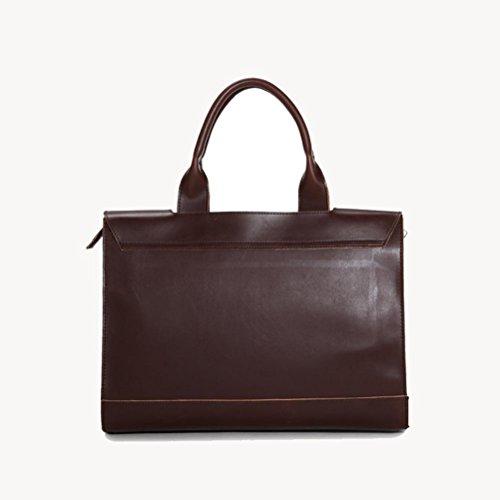 briefcase coffee Messenger handbag for Shoulder Retro bag Business Men Bags qzx4E